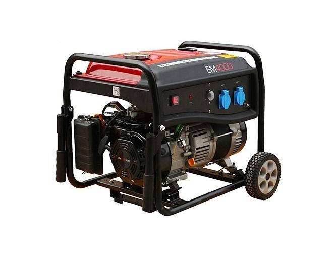 Бензиновый генератор (Бензогенератор) Pramac EM4000, 230V, 50Hz #Wheel kit