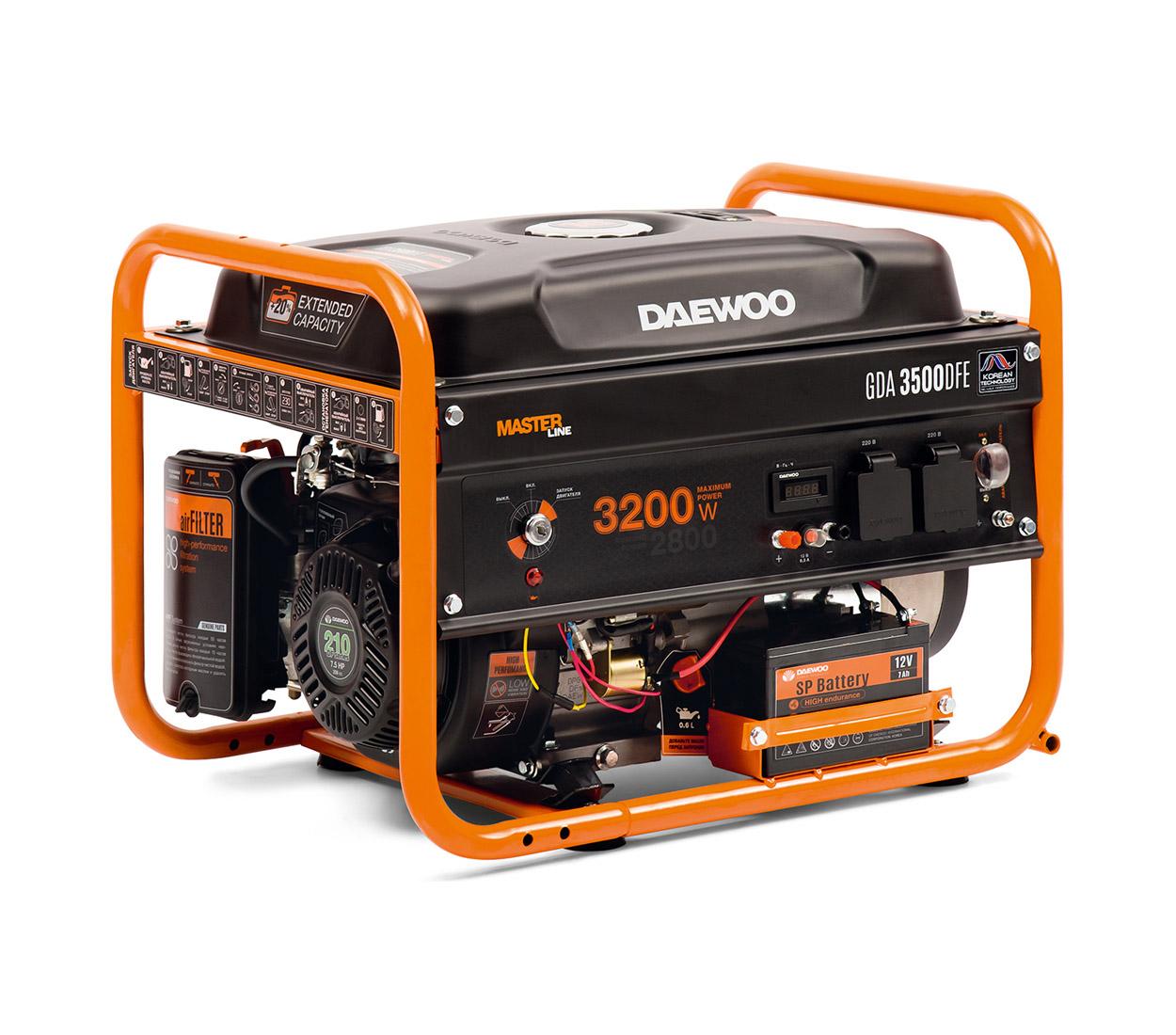 Бензиновый генератор (Бензогенератор) DAEWOO GDA 3500DFЕ